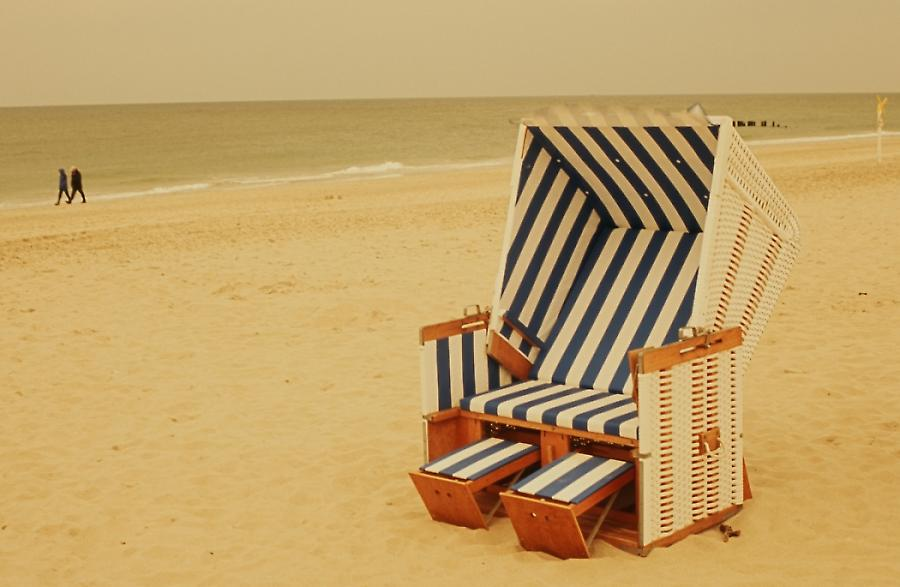 Strandkorb, wicker-chair